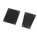 CNC Machined Aluminum Front and Rear Skid Plates for EXO Buggy (Black)